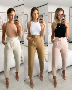 Jean Outfits, Fashion Outfits, Work Outfits, White Jeans Outfit, Zara, Business Chic, Business Casual Outfits, Night Outfits, Images Gif