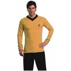 Deluxe Classic Gold Shirt Costume - Medium - Chest Size 40-42 @ niftywarehouse.com #NiftyWarehouse #StarTrek #Trekkie #Geek #Nerd #Products