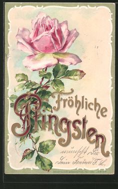cartespostales_de sells an item for until Tuesday, 28 March 2017 CEST in the Pentecost category on Delcampe Happy Greetings, Rosa Rose, Pentecost, Old Postcards, Vintage Labels, Vintage Roses, Birthday Cards, Illustration Art, Antiques