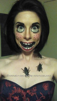 Creepy Doll Makeup – Awesome Homemade Costume That Costs Next to Nothing!… Coolest Halloween Costume Contest