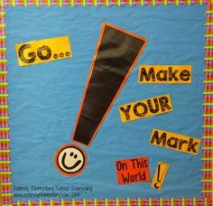 School Counseling: Theme for Make your Mark! Elementary School Office, Elementary School Counseling, School Staff, New School Year, Elementary Schools, Preschool Classroom Decor, 3rd Grade Classroom, Classroom Ideas, School Wide Themes