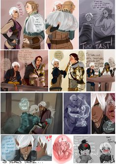 The Romantic Life of a Champion by AlexielApril - Yep, it's totally like that. Needy Anders, Waste-of-Perfectly-Good-Manflesh Sebastian, Once-Every-3-Years Fenris... Dysfunctional characters!! lol