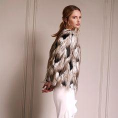 Cold weather chic | high low ruffle midi x fur jacket   Get the look > http://ss1.us/a/e7Sj1pbk x http://ss1.us/a/1VYQaCRJ