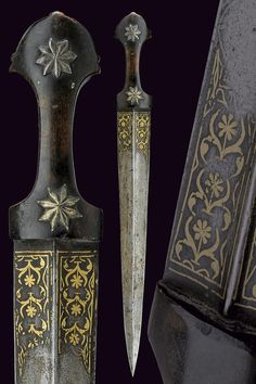 A kindjal of 'kama' dagger, Late-Ottoman, early century. Swords And Daggers, Knives And Swords, Dagger Knife, Medieval Weapons, Cool Knives, Arm Armor, Medieval Fantasy, Katana, Blacksmithing
