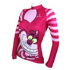 Ilpaladino Big Mouth Cat Grinning Women s Long Short-sleeve Cycling Jersey Suit  Cartoon 3a76b19fb