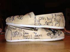 Harry Potter Shoes (TOMS version). $95.00, via Etsy.