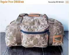 SUMMER SALES Large bag travel bag handmade canvas leather