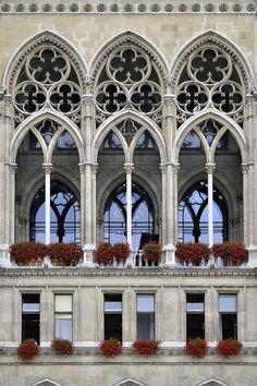 """""""Viena. Ayuntamien"""" by Alfonso Suárez on 500px - Vienna, Rathaus, Neo-Gothic Architecture #gothicarchitecture"""