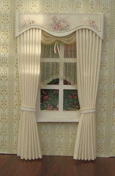 Miniature+112+Dollhouse+curtains++on+order+by+TanyaCurtains,+$40.00