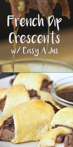 French Dip Crescents, Beef Recipes, Cooking Recipes, Detox Recipes, Easy Cooking, Pancake Healthy, Fingers Food, Crescent Roll Recipes, Recipes