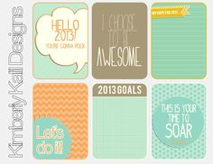 This Kalil Life: Printables - 52 Weeks of free Project Life printables to download