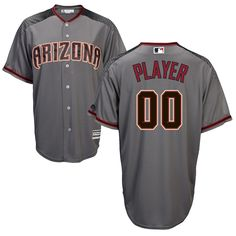 Men's Arizona Diamondbacks Majestic Gray/Brick Cool Base Custom Jersey