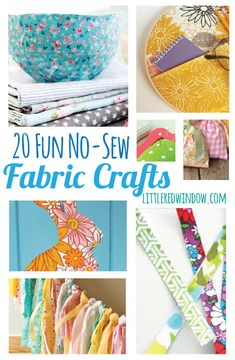 20 Fun No-Sew Fabric Crafts from some amazing bloggers, curated by littleredwindow.com!