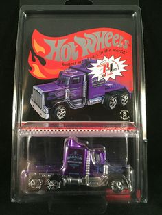 2013 Hot Wheels Redline Club RLC sELECTIONs Series LONG GONE Purple Semi Tractor #HotWheels #LongGone