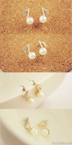 Worry-Free White Gold Plated Swan Pearl Hook Earrings
