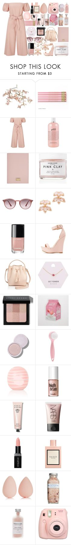 """""""Rose Water"""" by andreab6 ❤ liked on Polyvore featuring Canopy Designs, Miss Selfridge, philosophy, Dolce&Gabbana, Herbivore, Ray-Ban, Kate Spade, Chanel, Charlotte Russe and Céline Lefébure"""