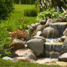 pondless waterfalls for the landscape, gardening, outdoor living, ponds water features, A small waterfall adds beauty to an unused corner of the yard Diy Water Feature, Backyard Water Feature, Ponds Backyard, Backyard Waterfalls, Garden Ponds, Koi Ponds, Backyard Ideas, Outdoor Water Features, Water Features In The Garden