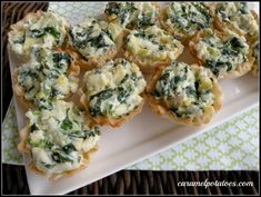 Spinach Artichoke Bites-a great appetizer for any gathering!!