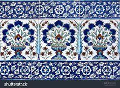 Turkish tile design in Topkapi Palace, Istanbul, Turkey Turkish Tiles, Turkish Art, Tile Art, Wall Tiles, Zentangle, Photo Tiles, Artistic Tile, Mediterranean Design, Turkish Design