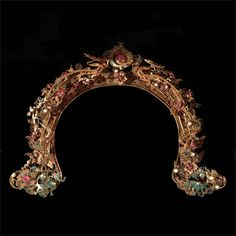 A Gold and Pearl Hairpiece, 18th Century SOLD