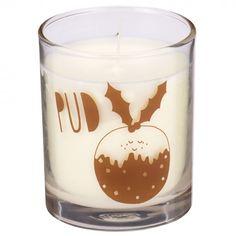 Christmas pudding candle