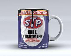 STP Oil Can Coffee Mug Tea Mug Coffee Cup Funny Mug Ceramic