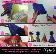#DIYFriday New Year's Eve #party hats