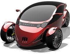 The Proxima is a stunning vehicle that looks like a hotrod at the front and a motorcycle at the rear. The cabin has 2 tandem seats for a motorcycle-like seating arrangement but instead of being exposed to the elements, are tucked inside a fully-enclosed cabin. Apart from providing comfortable, all-weather riding, it should also improve aerodynamics considerably.