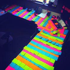 Office prank with sticky notes