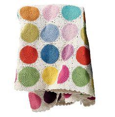 Heirloom Crochet Circle Blanket Girl or Boy