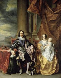 Charles I (19 November 1600 – 30 January 1649) was King of England, King of Scotland, and King of Ireland from 27 March 1625 until his execution in 1649.  He was married to Henrietta Maria of France.  Artist:  Sir Anthony van Dyck
