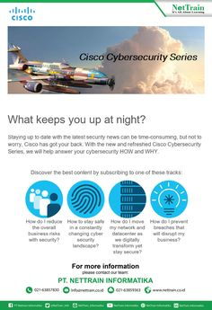 Cisco has got your back. With the new and refreshed Cisco Cybersecurity Series, we will help answer your cybersecurity HOW and WHY. #NetInfo #Cisco #cybersecurity #Network #Disrupt #Secure #Business