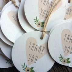 Whimsical favour tags.
