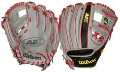 """Brandon Phillips' silver, red, and black custom A2K, which he named """"Casper"""", is the quintessential custom glove for elite players. Only 500 of these BP-endorsed gloves were produced as part of the 2012 Limited Edition Glove program.  Each glove is individually numbered and includes a certificate of authenticity personally signed by Brandon and Wilson Glove Master Craftsman Shigeaki Aso.  A portion of the proceeds are donated to Brandon's chosen charity, The Ronald McDonald House of Atlanta."""