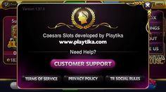 Caesars about/support