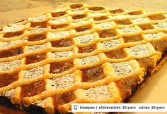 Berlini sütemény (Mandulás v. diós-lekváros  rácsos pite