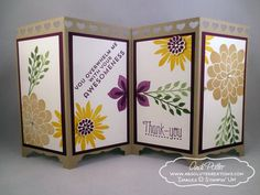 Bildergebnis für flower patch stampin up Screen Cards, Window Cards, Flower Patch, Folded Cards, Screens, Stampin Up, Divider, Candle Holders, Decorative Boxes