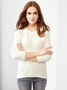 Ribbed raglan sweater Product Image
