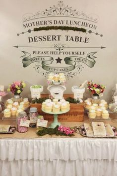 Mother's Day Dessert Table