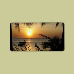 Shop Tropical Beach Paradise Label created by bonfirenature.