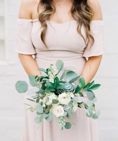 boho bridesmaid with succulents in her bouquet - Melissa Jill Photography