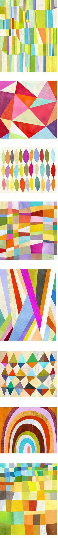 geometric print by melanie mikecz Pattern Dots, Doodle Pattern, Textile Patterns, Print Patterns, Fun Patterns, Color Patterns, Textiles, Geometric Art, Geometric Patterns