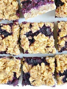 Healthy Breakfast Blueberry Oat Crumble Bars – HealthShoot