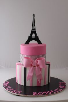 Creative Image of Paris Birthday Cakes . Paris Birthday Cakes Paris Themed Birthday Cake For A 13 Year Old Girl Thanks For Pinning Paris Birthday Cakes, Paris Themed Cakes, Paris Birthday Parties, Paris Cakes, Themed Birthday Cakes, Birthday Cake Girls, 13th Birthday, Paris Party, Birthday Ideas