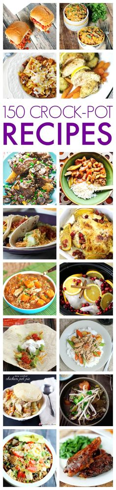 150 of the BEST Slow Cooker Recipes + Get our Family Favorite Crock Pot Recipes eBook for FREE with Printable Recipes included.
