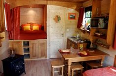 french caravan interior