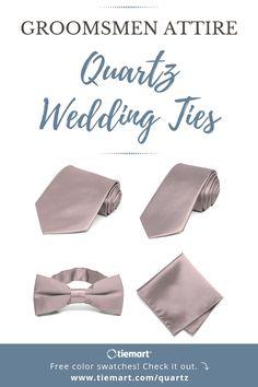 6849463c72cc5d Quartz is such a soft, romantic wedding color. When it comes to groomsmen  attire