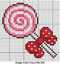 Cross stitched lollipop