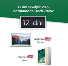 12 dní skvelých cien Ipad Air 2, Flip Clock, Macbook Air