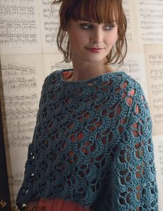 Pretty poncho crochet pattern